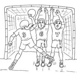 Coloriage Handball